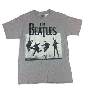 New Beatles T Shirt Mens Gray band music